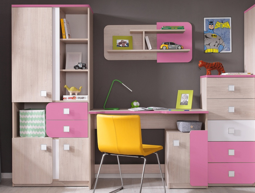 Detská izba DUO (D2+4+6+8) santana/ružová