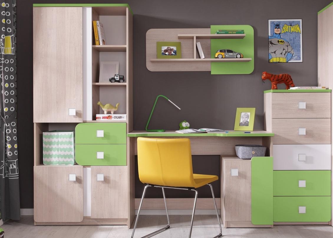 *Dětský pokoj DUO (D2+4+6+8) santana/zelená