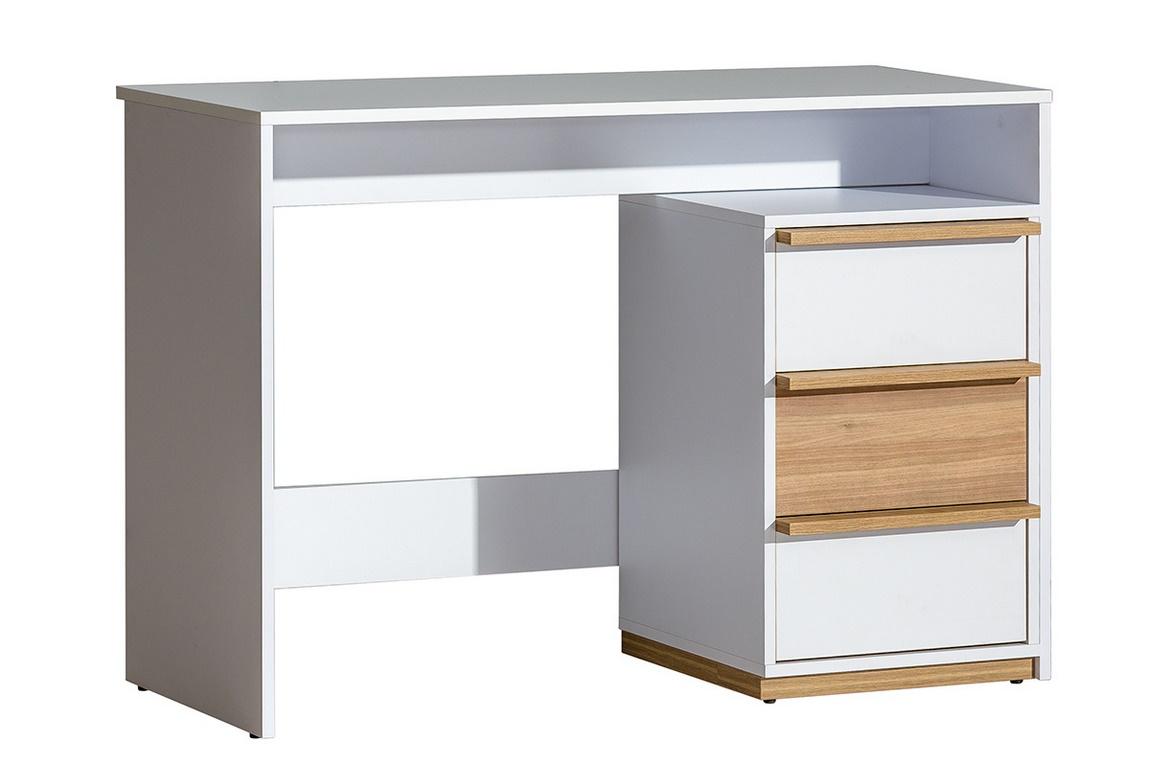 EVADO E14 pracovný stôl biela/ořech