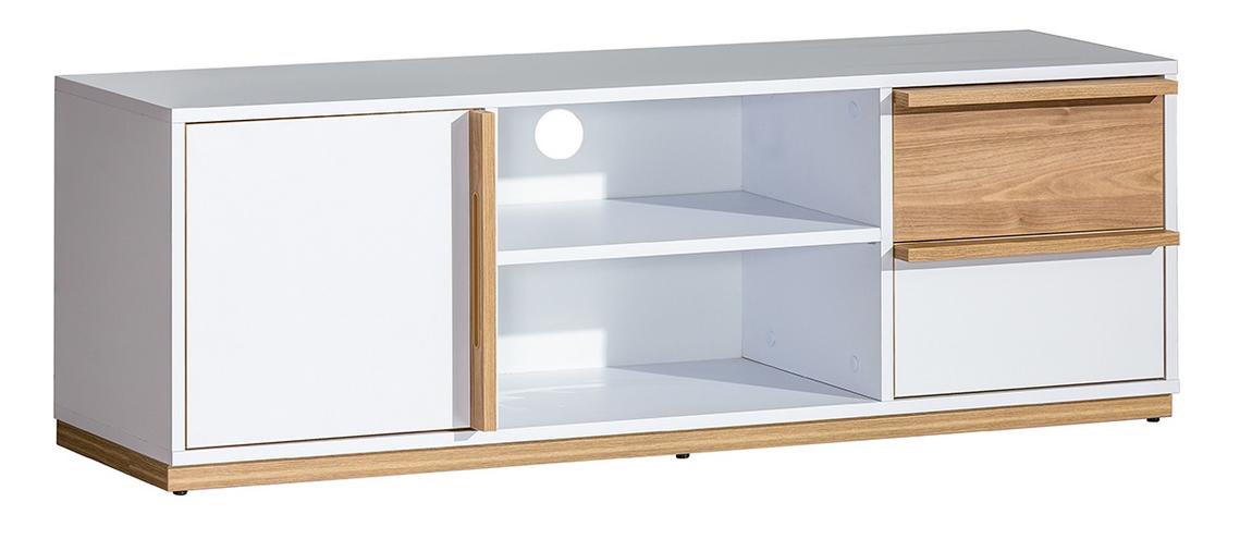 EVADO E4 TV stolík biela/ořech