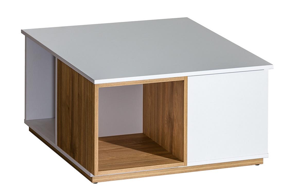 EVADO E13 konferenčný stolík biela/ořech