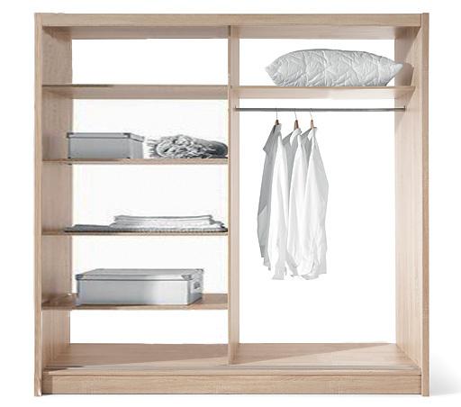 ECO 150 2D šatníková skriňa sonoma/biela