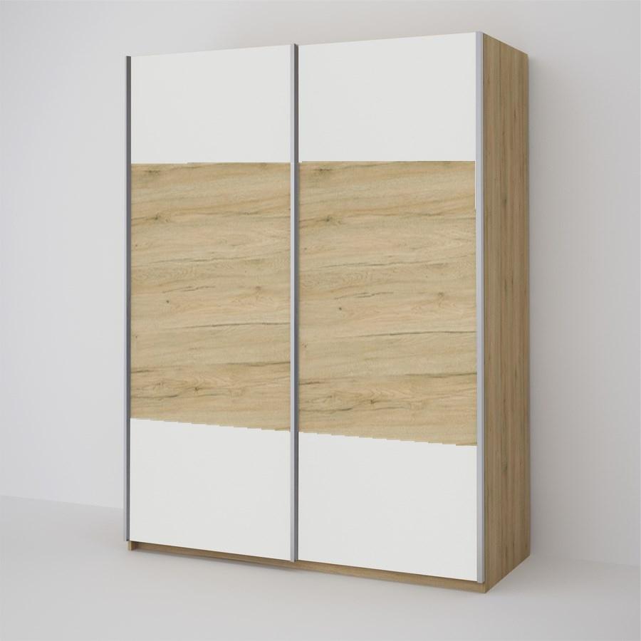 ECO 150 2D šatníková skriňa biela/sonoma