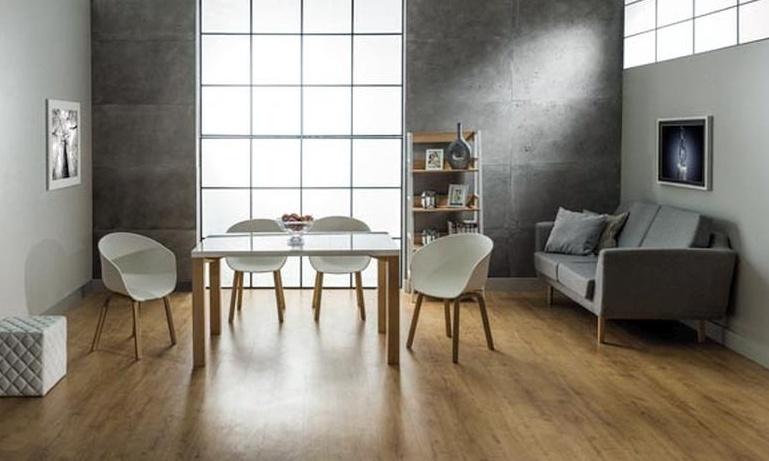Jedálenský stôl EGON biela/buk
