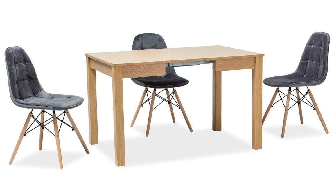 Jedálenská stolička AXEL III šedá aksamit/buk
