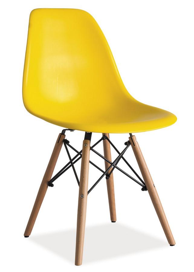 Jedálenská stolička ENZO žltá