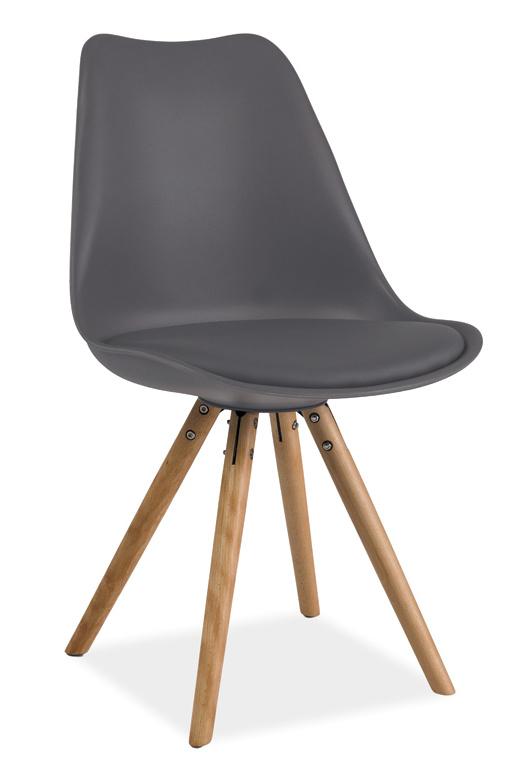 Jedálenská stolička ERIC šedá