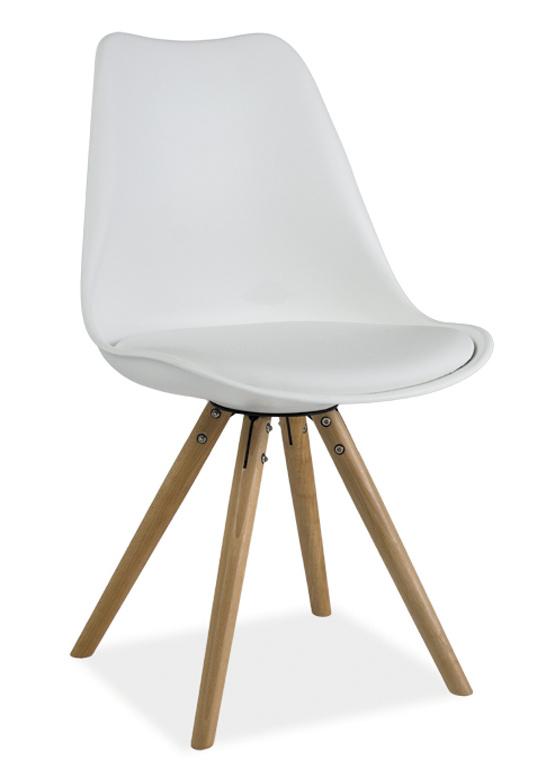 Jedálenská stolička ERIC biela