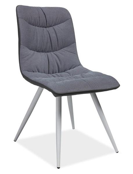 Jídelní čalouněná židle EVITA šedá