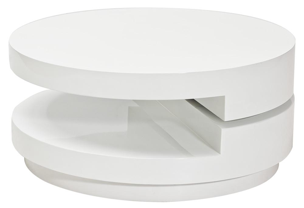 Konferenčný stolík FABIOLA biely rozkladací