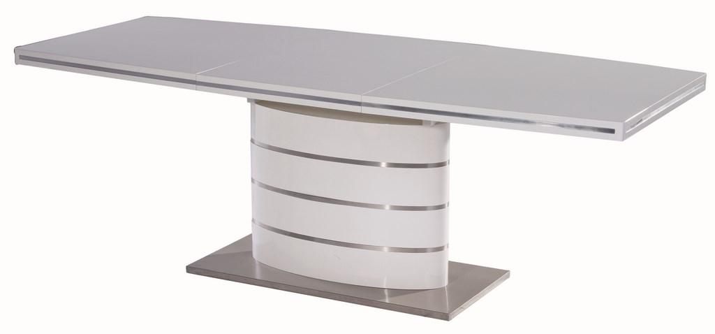 Jedálenský stôl FANO biely rozkladací
