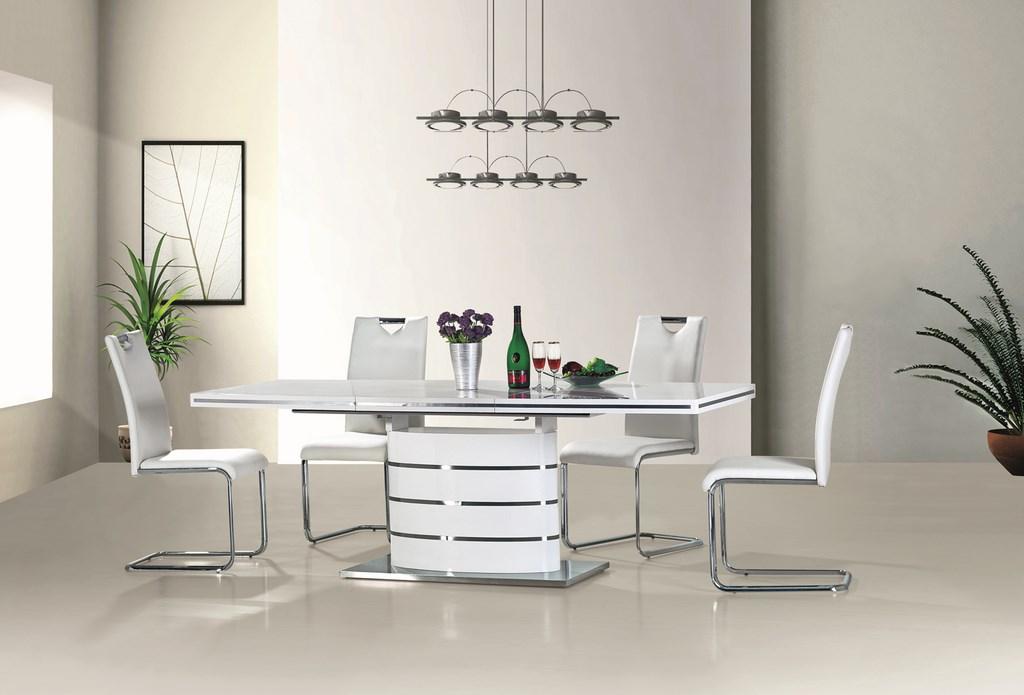 Jedálenský stôl FANO 140 biela rozkladací