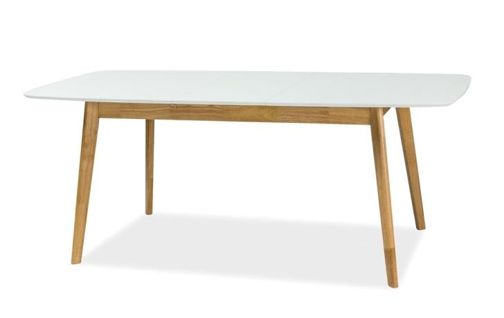 Jedálenský stôl rozkládací FELICIO II biela/dub 150