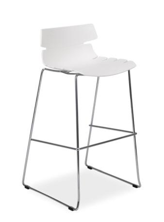 Barová židle FERRO H-2 bílá
