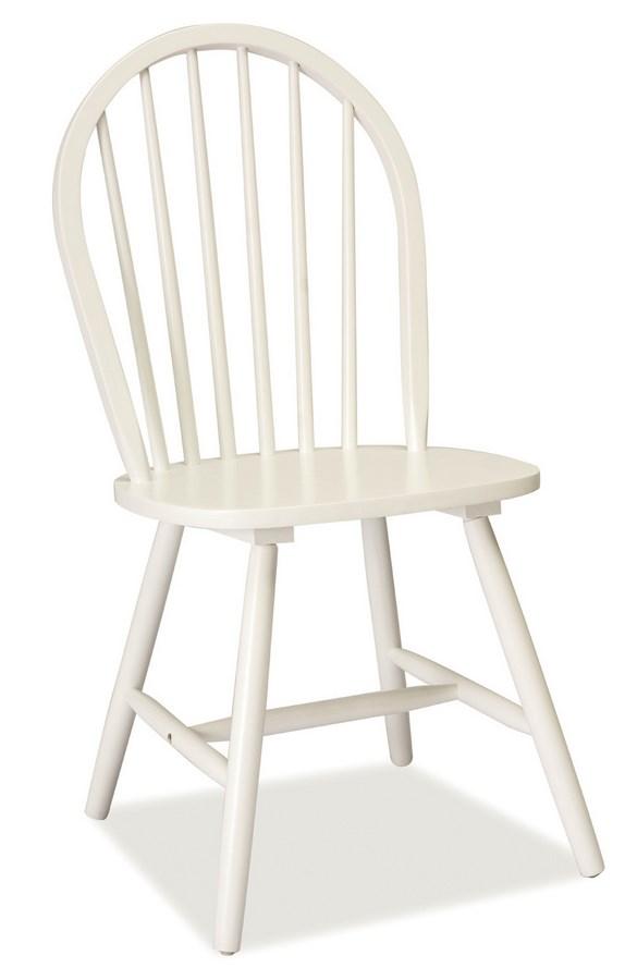 Jedálenská drevená stolička FIERO biela