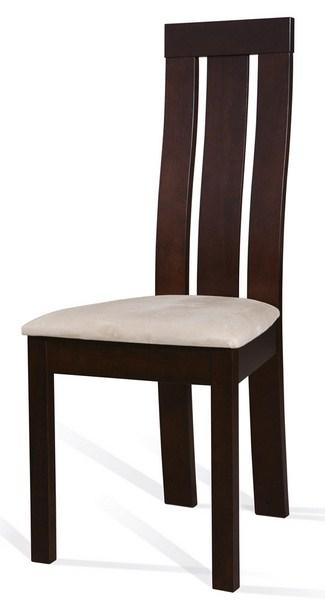 Jedálenská čalúnená stolička C-27 wenge