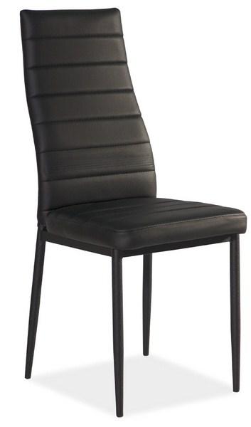 Jedálenská čalúnená stolička H-261C čierna