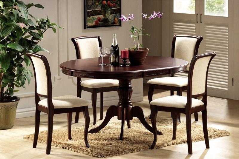 Jedálenský stôl OLIVIA rozkladací orech tmavý