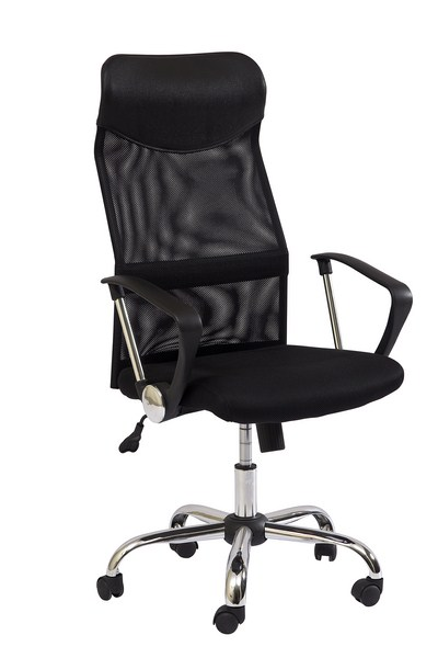 Kancelárska stolička Q-025 čierna/čierna