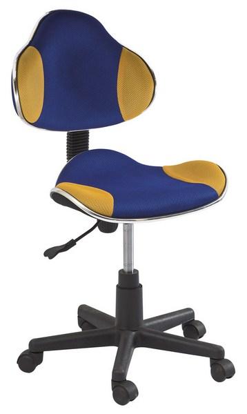 Kancelárska stolička Q-G2 modrá/žltá