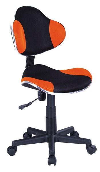 Kancelárska stolička Q-G2 čierna/oranžová