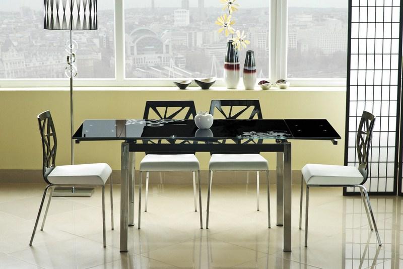 Jedálenský stôl GD-017 rozkladací čierny