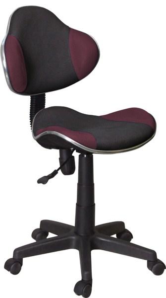 Kancelárska stolička Q-G2 čierna/fialová