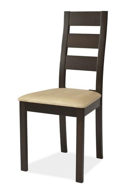 Jedálenská čalúnená stolička CB-44 wenge/béžová
