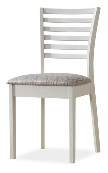 Jedálenská čalúnená stolička MA-SC biela