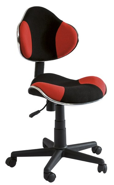 Kancelárska stolička Q-G2 čierna/červená