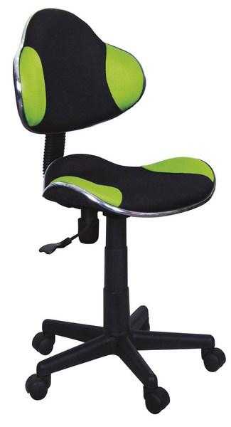 Kancelárska stolička Q-G2 čierna/zelená