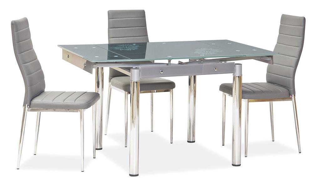 Jedálenská čalúnená stolička H-261 Bis šedá/alu
