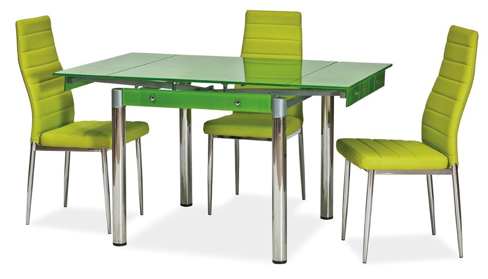 Jedálenský stôl GD-082 rozkladací zelený