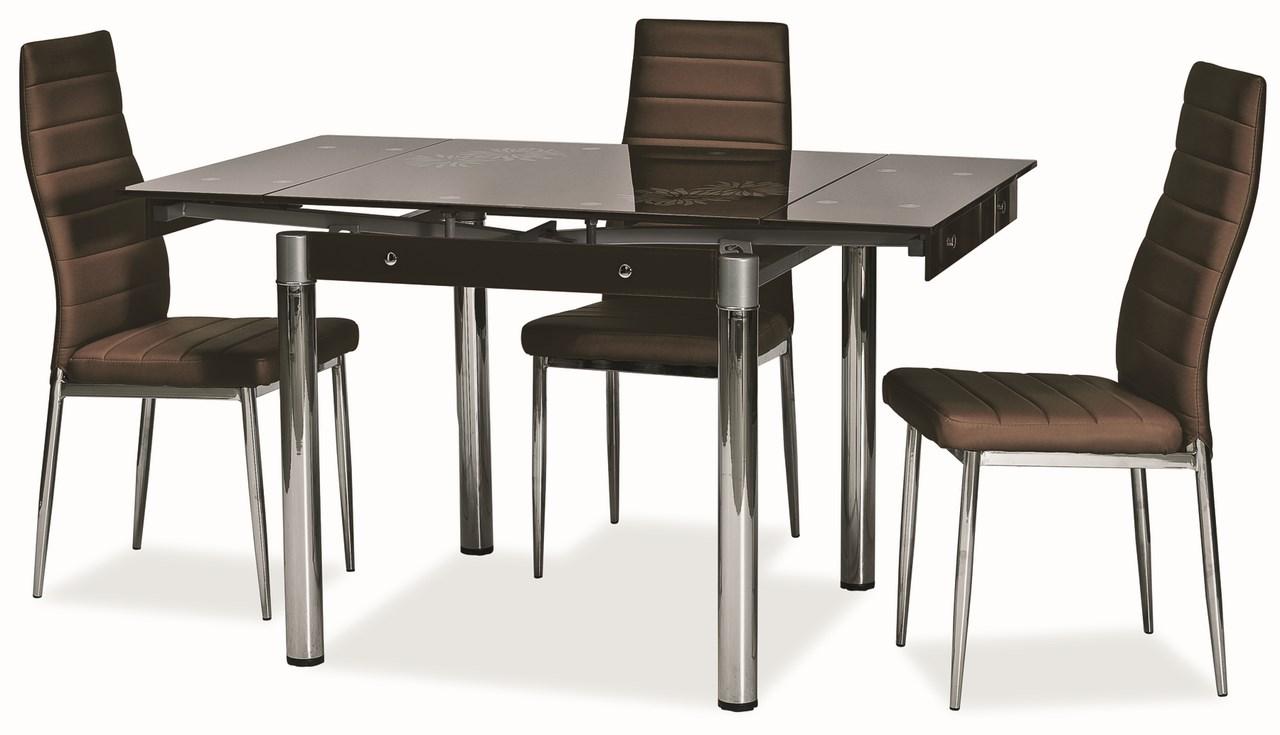 Jedálenský stôl GD-082 rozkladací hnědý