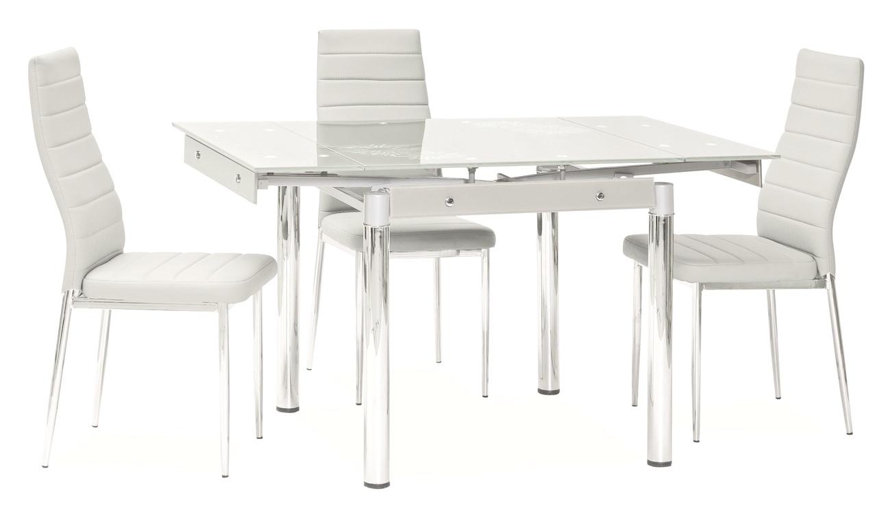 Jedálenský stôl GD-082 rozkladací biely
