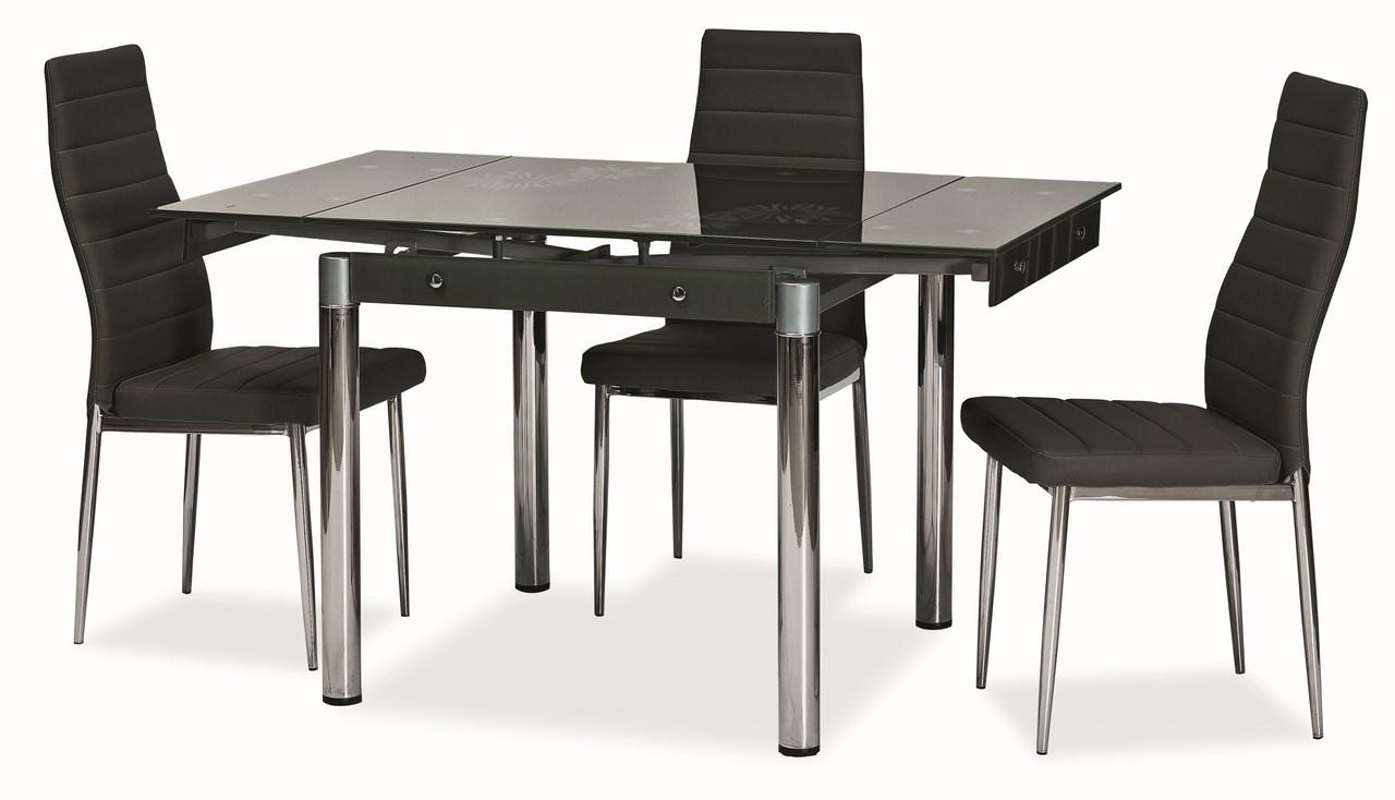 Jedálenský stôl GD-082 rozkladací čierny