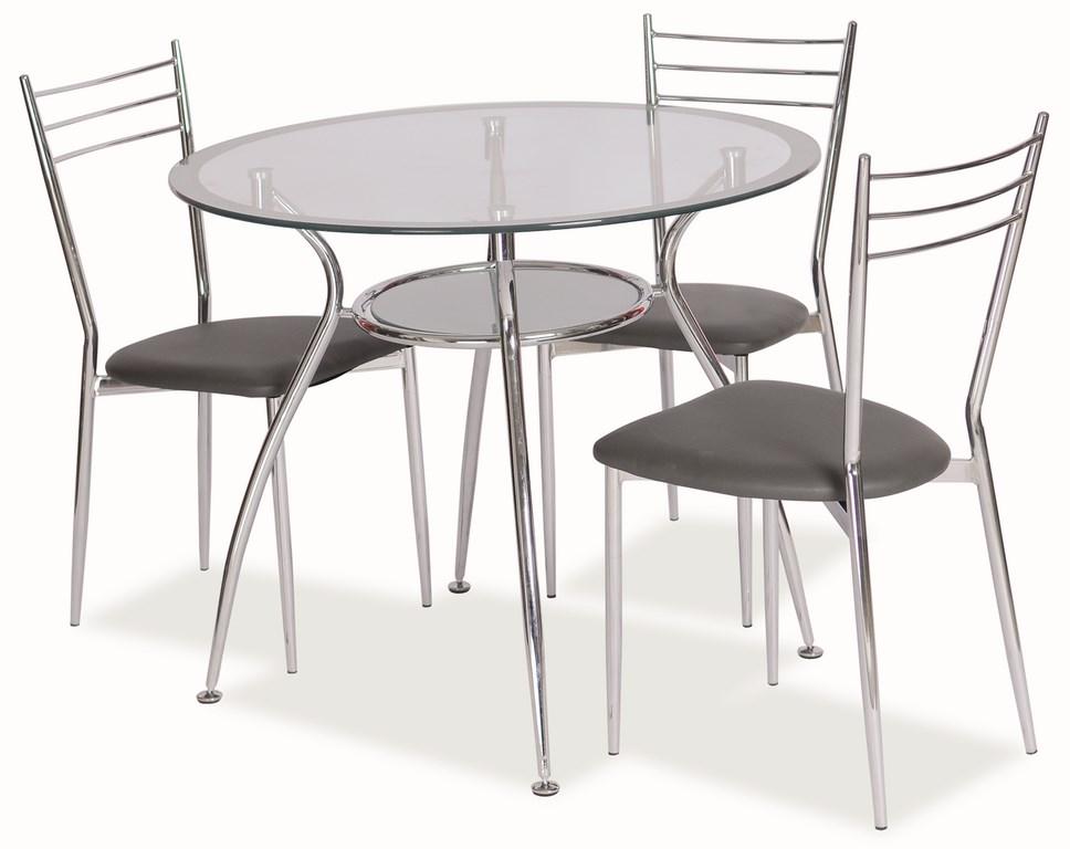 Jedálenský stôl FINEZJA A stříbrná