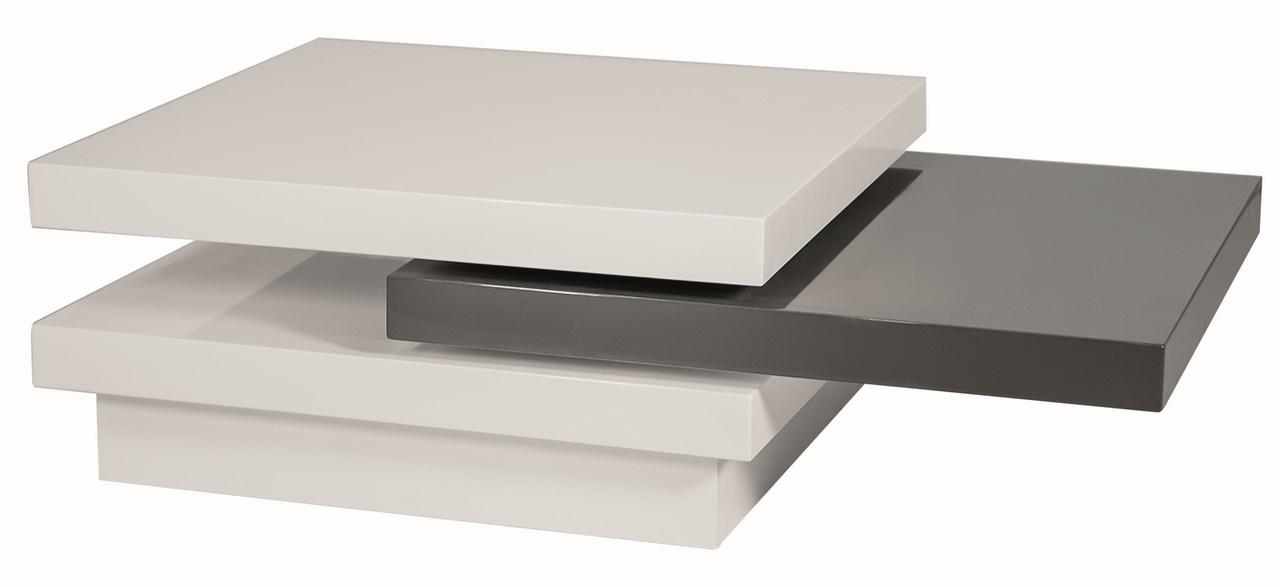 Konferenčný stolík TRISTA rozkladací bílo-šedý