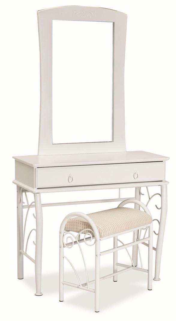 Toaletní stolík 1102 se zrcadlem biela/biela