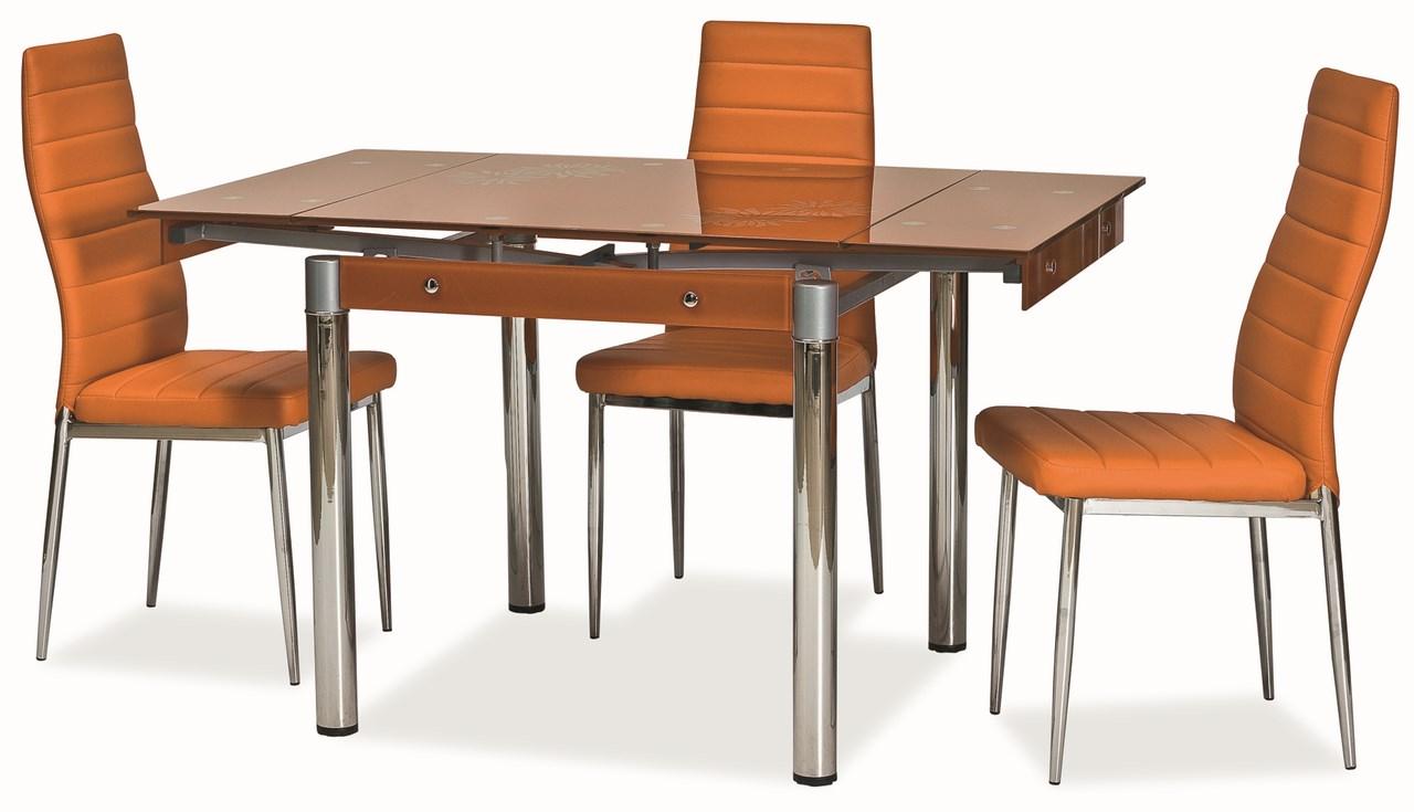 Jedálenský stôl GD-082 rozkladací oranžový