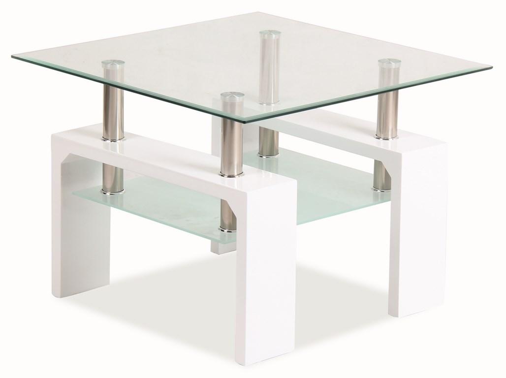 Konferenčný stolík LISA D BASIC - biely