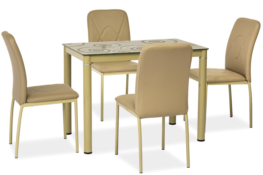 Jedálenský stôl DAMAR tmavě béžový