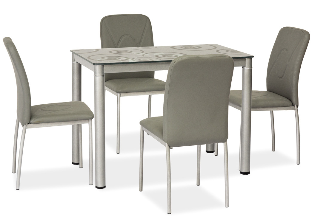 Jedálenský stôl DAMAR šedý