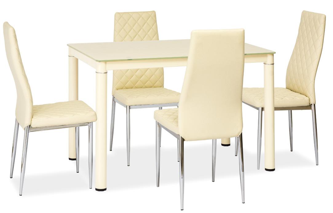 Jedálenský stôl GALANT krémový