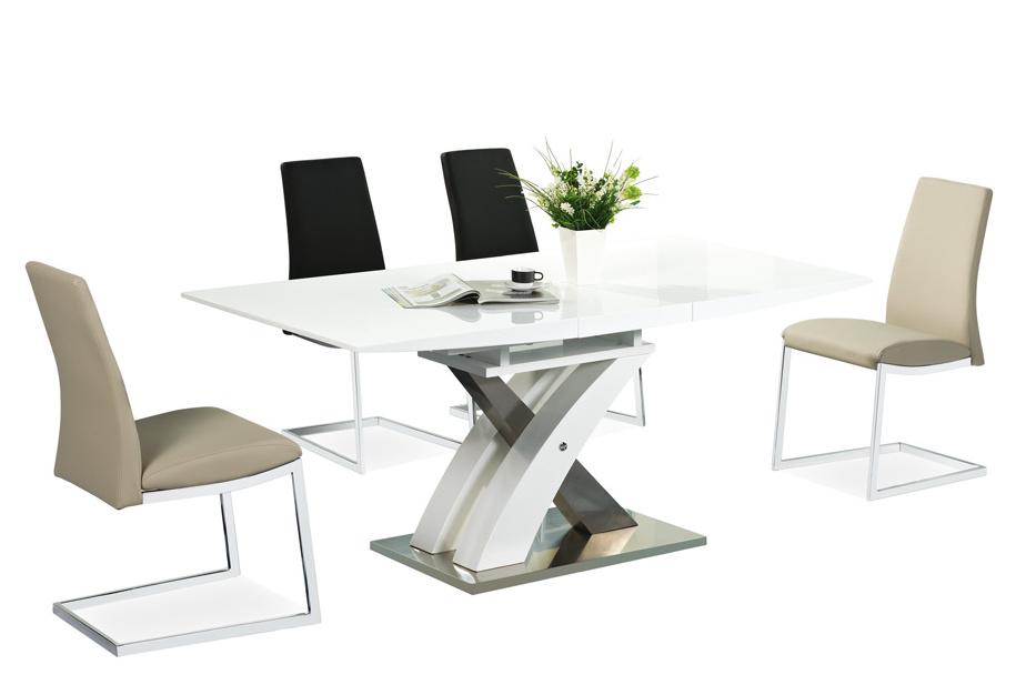 Jedálenský stôl RAUL rozkladací biely