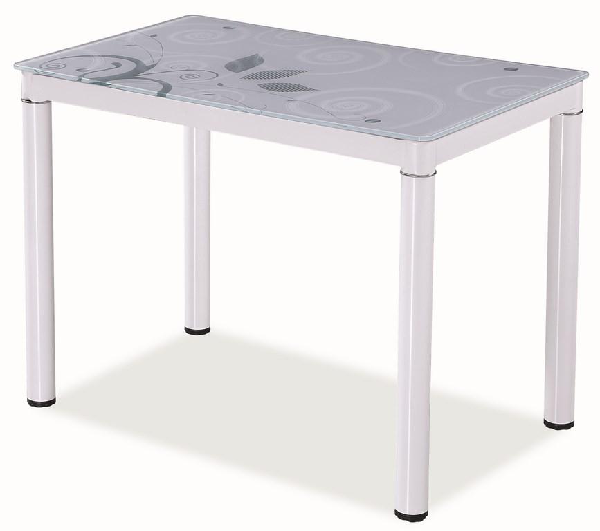 Jedálenský stôl DAMAR biely