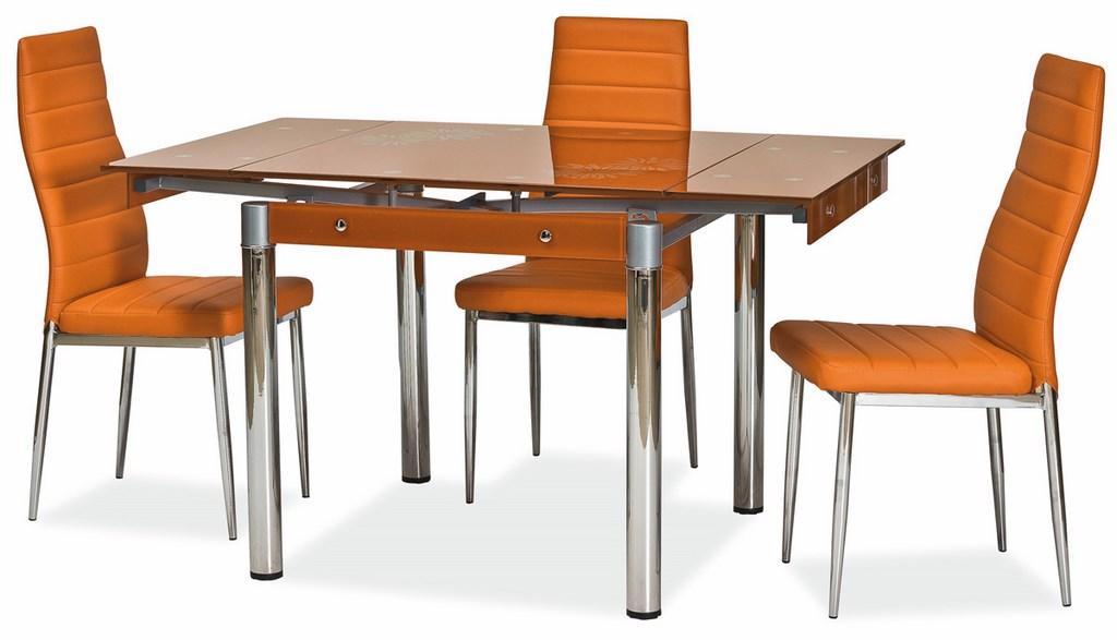 Jedálenská čalúnená stolička H-261 oranžová