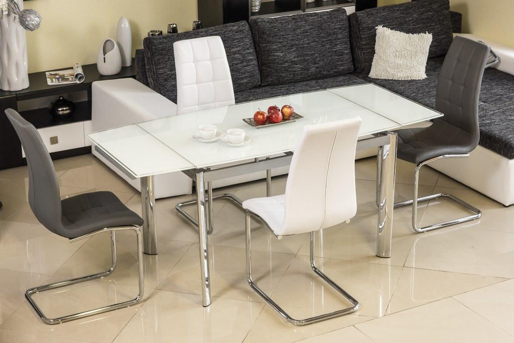 Jedálenská čalúnená stolička H-103 šedá