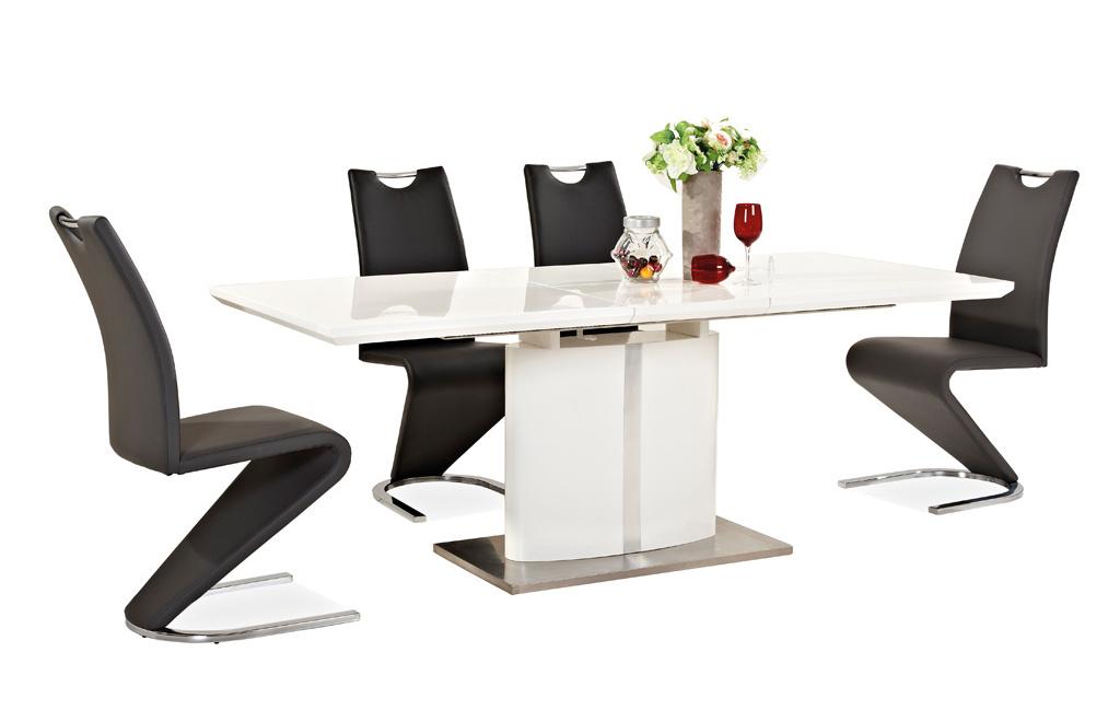 Jedálenská čalúnená stolička H-090 čierna/ocel