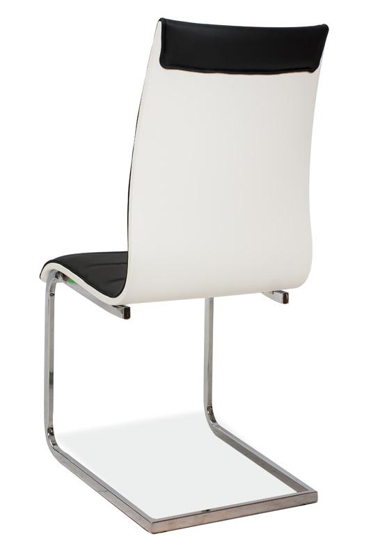Jedálenská čalúnená stolička H-133 čierna/biela